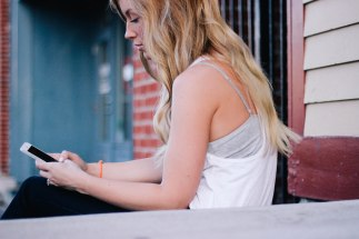 reading a blog on a mobile device